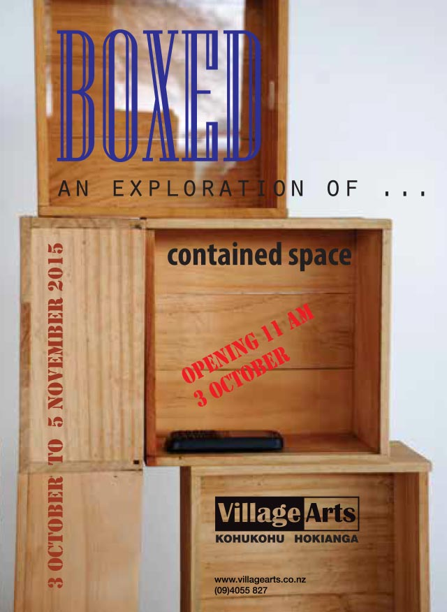 "Village Arts Exhibition Flyer ""Boxed"""